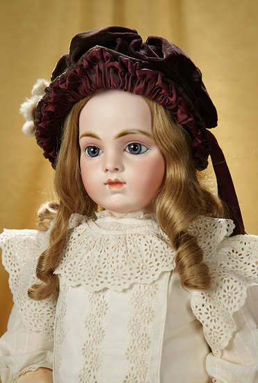 Beautiful French Bisque Bebe Bru, Size 12, with Original Composition Body 11,000/13,000