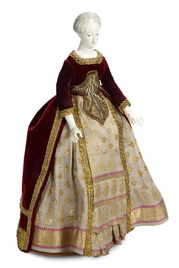"German Porcelain Doll Known as ""Nymphenburg Lady"" in Original Tea Cozy Presentation 1200/1800"