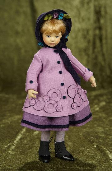 """11"""" American felt artist doll """"Amy March"""" by Maggie Iacono. $300/400"""