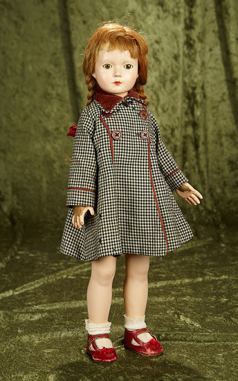 """20"""" American composition doll from American Children series, Dewees Cochran Effanbee $200/300"""