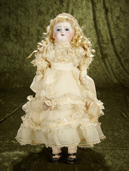 French bisque Bebe Gigoteur in exceptional original antique costume. $1100/1500