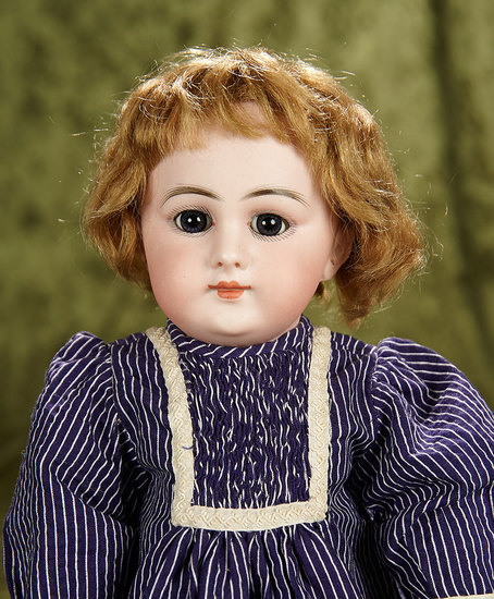"15"" French bisque child doll ""Dep"" with closed mouth, French body. $1200/1500"