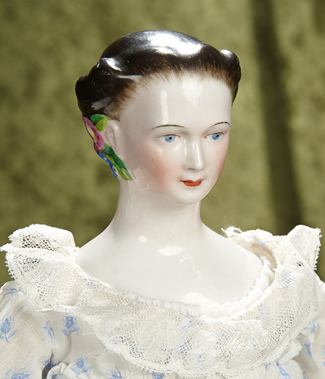 "25"" Rare German porcelain doll known as ""Morning Glory Lady"" by Lippert & Haas.$1700/2100"