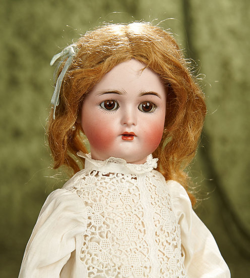 "15"" German bisque child with mohair lashes by Kammer and Reinhardt. $400/500"