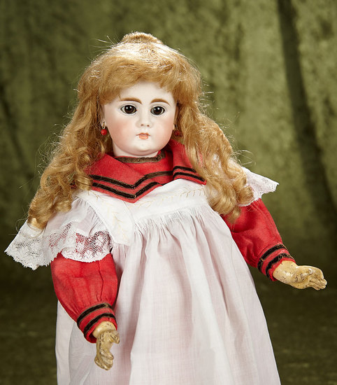 "19"" Sonneberg bisque doll, model 212, by Bahr and Proschild with closed mouth. $600/900"