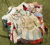 """Twenty silk dresses in the French bebe style for 20""""-28"""" bebes. $200/400"""