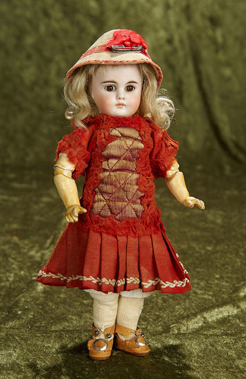 """10"""" Petite German Bisque Child, Model 224, with Closed Mouth by Bahr and Proschild. $900/1200"""