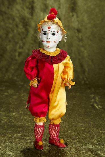 """13"""" Rare French bisque art character, model 255, by SFBJ in wonderful costume. $800/1200"""
