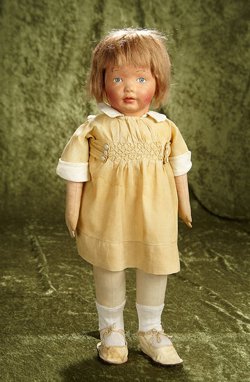 "19"" American cloth character ""Kamkins"" by Louise Kampes with original dress. $800/1200"