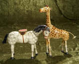 Two American wooden circus animals by Schoenhut. $500/700