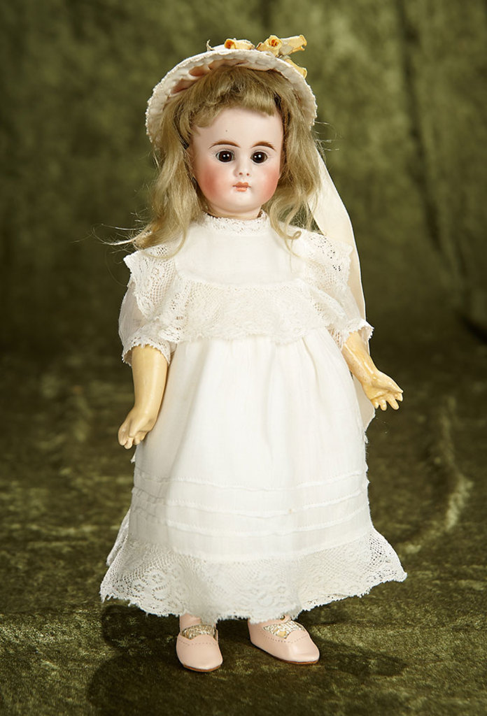 """11"""" Petite German bisque closed mouth child, model 212, by Bahr and Proschild. $800/1000"""