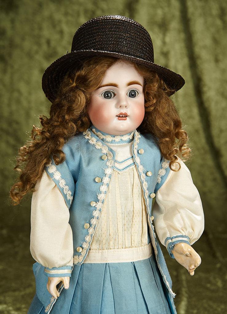 """18"""" German bisque child doll, 247, by Bahr and Proschild. $500/700"""
