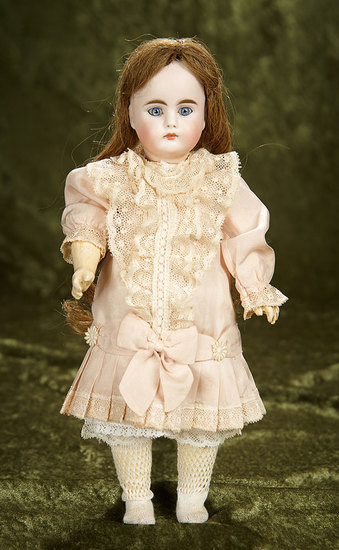 """12"""" German bisque closed mouth child, 212, by Bahr and Proschild. $600/800"""