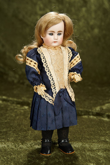 """10"""" German bisque child doll, model 212, by Bahr and Proschild with closed mouth. $600/900"""