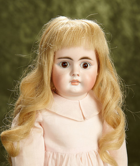 """16"""" German bisque closed mouth child, model 204, by Bahr and Proschild. $800/1000"""