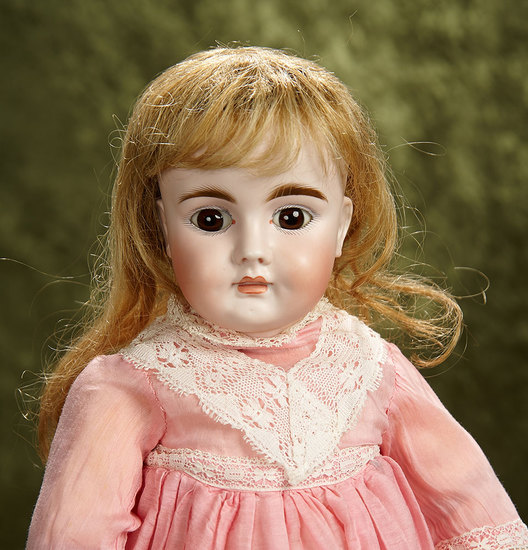 """18"""" German bisque child with closed mouth, model 224, by Bahr and Proschild. $800/1200"""