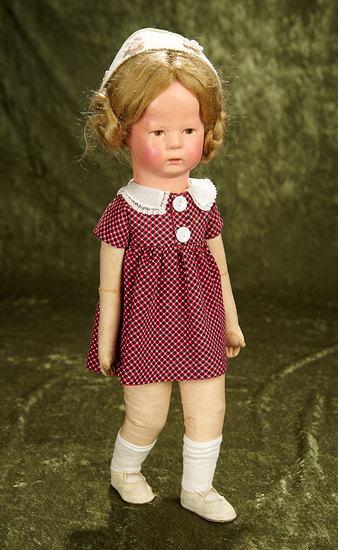 """18"""" German cloth Jubilee model """"Dorothe"""" by Kathe Kruse in original costume. $900/1200"""