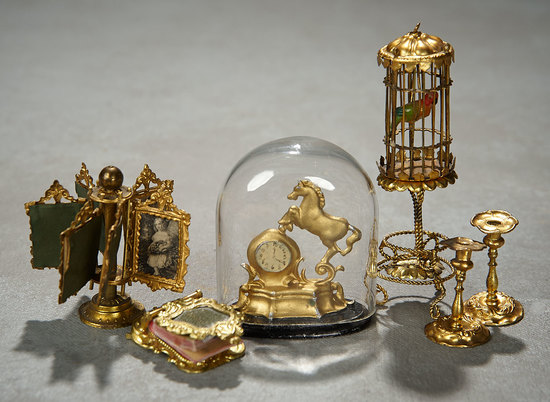 Rare German Ormolu Miniature Accessories by Erhard & Sohne 500/800