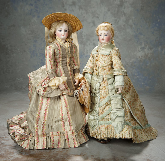 French Bisque Smiling Poupee by Leon Casimir Bru with Original Body and Bisque Hands 2500/3500