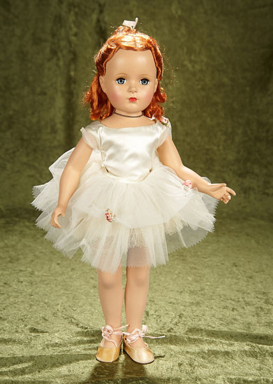 "20"" Margaret Face Ballerina in Original Tagged Costume by Alexander, Rare Red Hair. $500.700"