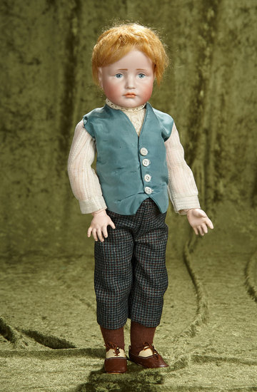 "17"" German bisque pouty character, ""Hans"", model 114, by Kammer and Reinhardt. $1600/1900"