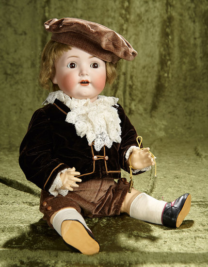 "22"" German bisque toddler, 1294, by Franz Schmidt with wonderful costume. $500/750"