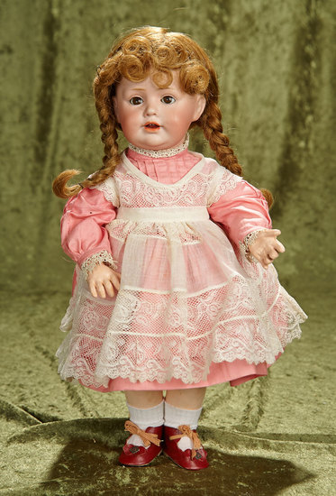 "15"" German bisque toddler known as Baby Jean, model 247, by Kestner. $800/1100"