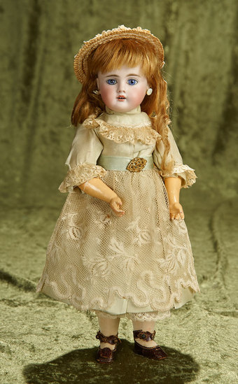 "13"" Petite German bisque child, model 252, by Bahr and Proschild. $400/500"