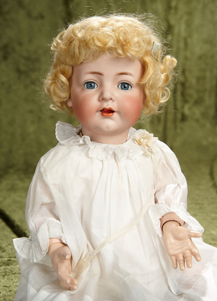 "20"" German bisque character, 128, with toddler body by Kammer and Reinhardt $500/800"