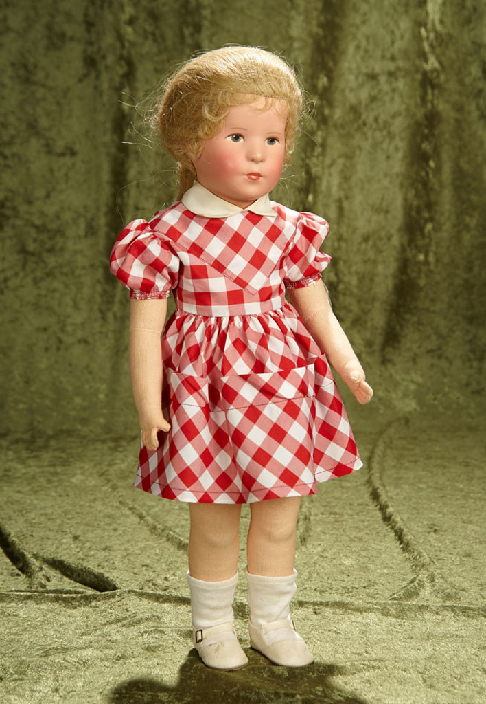 """21"""" German cloth character """"Deutsches Kind"""" by Kathe Kruse in Original Costume.$400/600"""
