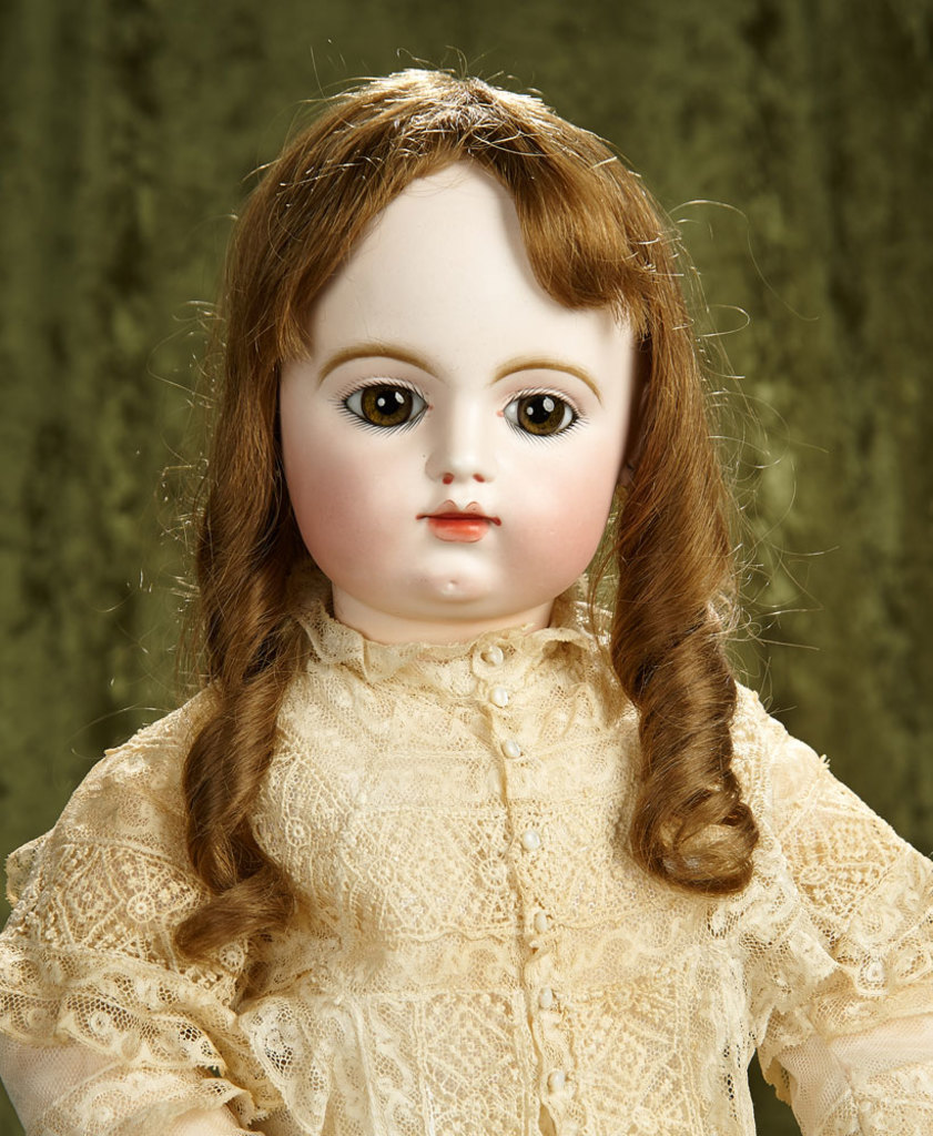 "28"" French bisque bebe by Gaultier with original body, gorgeous eyes. $3500/4500"