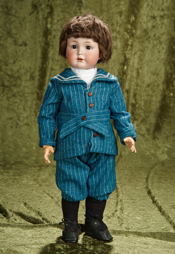 """18"""" Rare German bisque character, model 120, by Simon and Halbig, original body. $1200/1500"""
