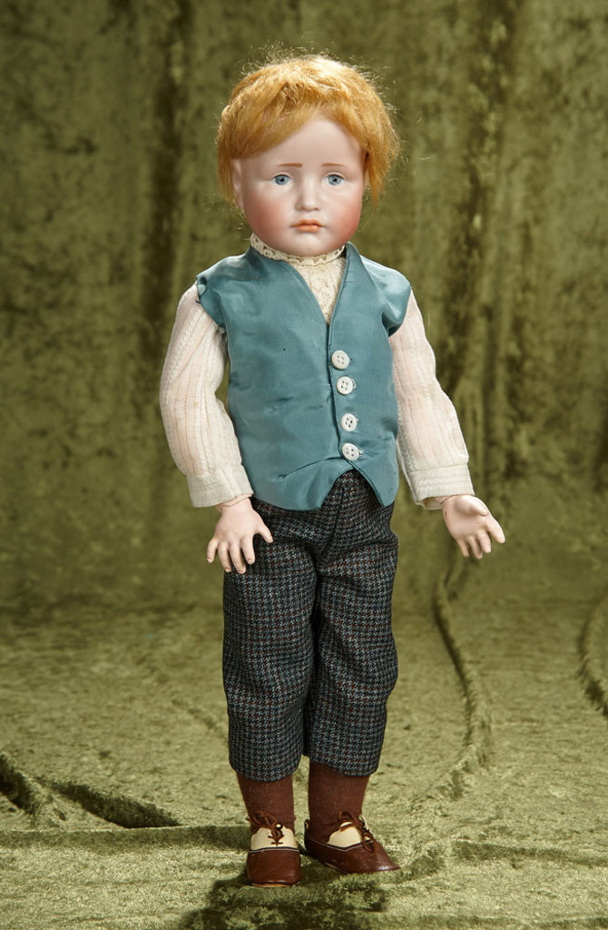 """17"""" German bisque pouty character, """"Hans"""", model 114, by Kammer and Reinhardt. $1600/1900"""