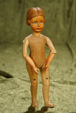 Swiss Wooden Character Doll by Huggler in Rare Petite Size. $200/400