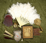Collection of antique doll accessories and ephemera. $300/500