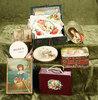 Lot of antique miniature boxes with decorative lids. $300/500