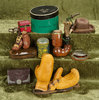 Collection of antique accessories suitable for gentleman dolls. $400/600