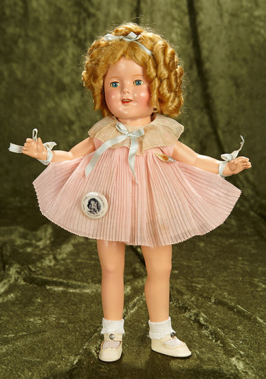 Composition Shirley Temple by Ideal in Origianl Promotional Dress. Fabulous Wig. $300/400