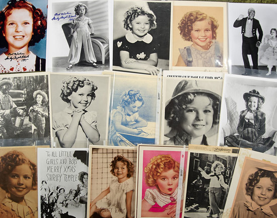 Collection of Shirley Temple photographs including two autographed. $200/300