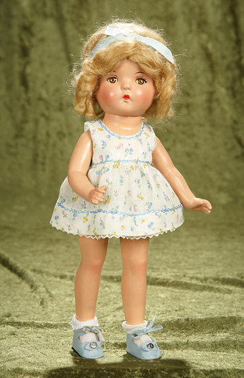 "13"" Composition Shirley Temple Look-Alike in original costume. $200/300"