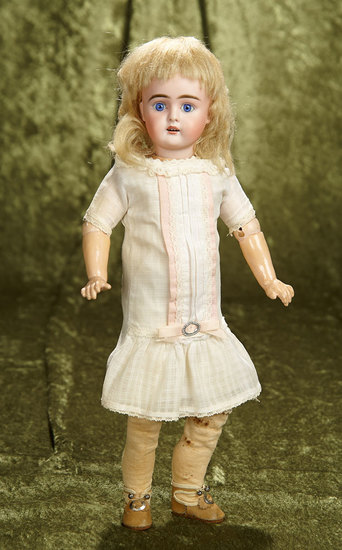"14"" German bisque child, model 261, by Bahr and Proschild in original chemise. $400/500"