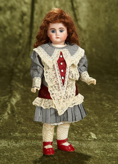 "Petite 11"" German bisque closed mouth doll, 213, by Bahr and Proschild. $600/900"