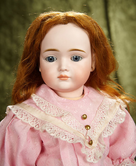 "21"" German bisque closed mouth character by Kley and Hahn, model 546, rare. $1200/1600"