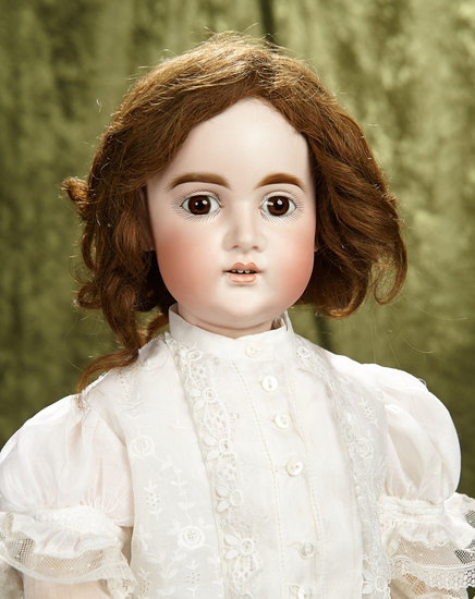 "24"" Sonneberg bisque child doll with very expressive features, mystery mark. $600/900"