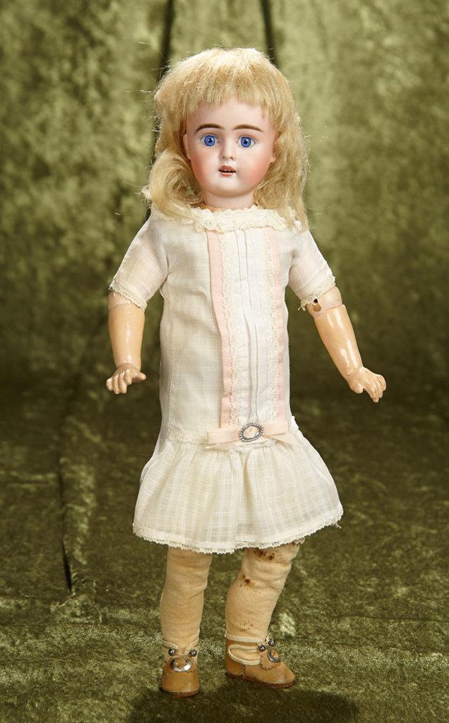 "14"" German bisque child, model 261, by Bahr and Proschild in original chemise. $400/500"