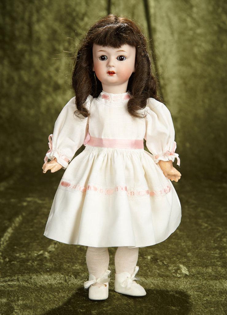 "14"" German glass-eyed child, model 8192, by Gebruder Heubach. $700/900"