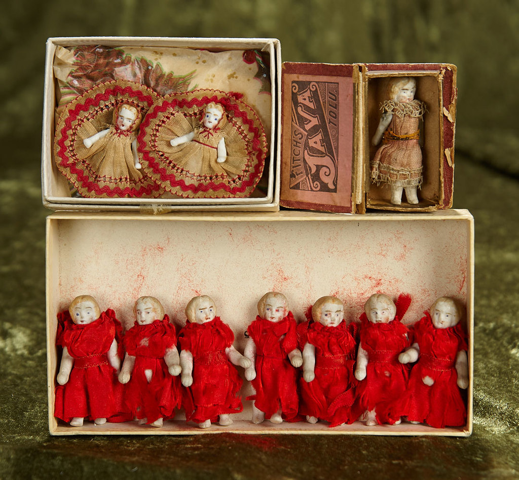 "1"" - 2"" Collection of tiny dolls. $300/400"