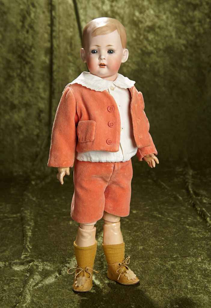 """18"""" German bisque character known as """"Tommy Tucker"""", 2048 by Bahr and Proschildf. $600/900"""