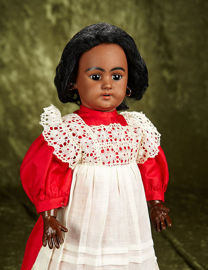 """17"""" German brown-complexioned bisque doll, 1009, by Simon & Halbig  $700/900"""
