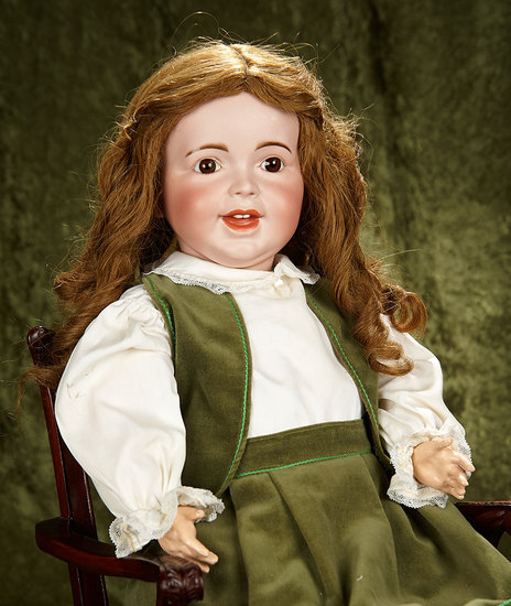 """27"""" French bisque character, 236, by SFBJ with original toddler body. $800/1100"""